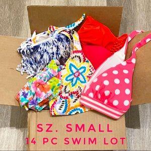14 pc Swimwear bikini swim lot bundle Sz SMALL